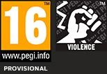 PEGI rated for ages 16 and up for Violence (Provisional)